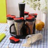 Bottiglia di vetro della spezia del Cruet del supporto del pepe del supporto del sale del condimento del Cruet del commestibile