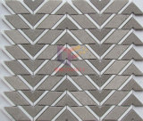 Mattonelle di mosaico geometriche del marmo di figura nel colore grigio (CFS1177)