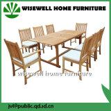 Muebles de jardín de madera de roble con 8 sillas (W-9S-0621)