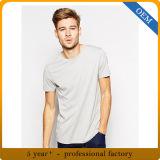 卸売の100%年の綿の安い人の綿の灰色のTシャツ