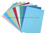 Grão de couro colorida papel gravado