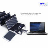 High Effi. 23.5% Sunpower Folding Solar Panel Charger 60W Double Output 15V / 5vportable Carregador Solar para Laptop Tablet PC Bateria de carro Celulares