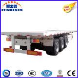 Remorque de camion de conteneur de lit plat des Tri-Essieux 40FT de la CE ccc