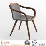 Commerce de gros élégant fauteuil en bois massif avec capot de tissu