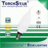 Alumínio Plástico 4W C35 / F35 LED Candle Light
