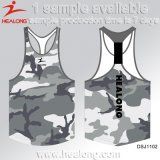 Healong Schule-Abgleichung-laufendes Unterhemd der authentischen Kleid-Sublimation-Männer