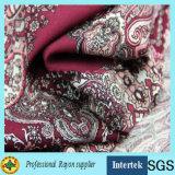 Impression de rayonne de tissu à armure toile pour vêtements d'été