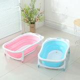 Vasca da bagno pieghevole del bambino di funzione di due colori da vendere