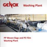 Plástico tecido PP elevado dos sacos da eficiência que lava recicl a máquina