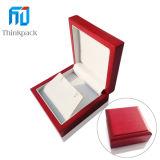 Nuevo diseño del rectángulo rojo joyería de madera Cajas