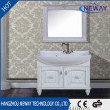 Prix compétitif Meuble de salle de bain en bois massif avec miroir