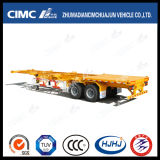 Cimc Huajun 45FT 3axle Gooseneck Skeleton Container Semi-Trailer