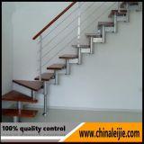 Escada de trilho de aço inoxidável com fio