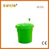 Sb-25L 25L de Grote Ronde Plastic HandKom Van uitstekende kwaliteit van de Snijder van de Groente en van de Fruitsalade