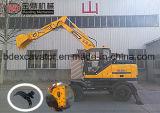 Máquina escavadora hidráulica da roda de Baoding 8.5ton