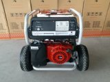 7.5kw 2X大きい空気の車輪およびハンドルが付いている頑丈な遠隔開始のガソリン発電機
