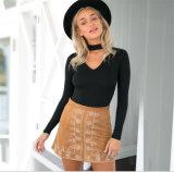Neuer grosser V Stutzen-strickende Kleid-Strickjacke der Form-für Frauen-Pullover