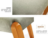 腰掛け(M-X2075)に服を着せる固体木の腰掛けの革腰掛け