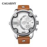 Cagarny 6819 Multifunctionele Opdringers van het Geval van het Polshorloge Mens Zilveren en Kleine Wijzerplaten