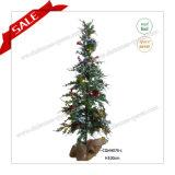 decorazione artificiale chiara della casa dell'albero della decorazione di natale di 130cm LED