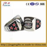 Ring van de Vinger van het Embleem van de douane de Glanzende