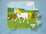 Toalha de comprimido com design de cavalo para a promoção (YT-670)
