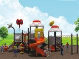 Campo de jogos ao ar livre das crianças com três corrediça Playsets HD-Tsj002
