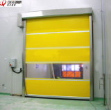 Porta de garagem automática Porta de persiana de rolo de PVC com radar de alta velocidade