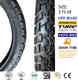 La motocicleta parte el neumático de la motocicleta del neumático de la motocicleta de la moto de los dientes 2.75-18 del camino