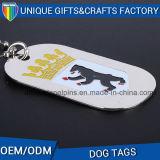 Logo gravé Cadeau souvenir Dog Tag de métal