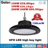 Atelier de l'usine d'entrepôt intérieur Stade Exhibition Supermarché Station Shopping 200W Highbay Lamp 100W 150W UFO LED High Bay Light