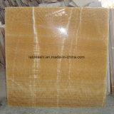 Carrelage en marbre jaune miel onyx pour plancher mur