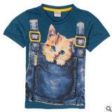 2014 L'été les nouveaux enfants Coton T-Shirt enfants Vêtements caricature de gros garçon enfants T-shirt d'usure
