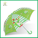 昇進の子供のまっすぐな透過傘