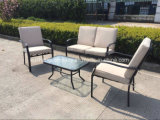 Muebles de acero al aire libre 7PCS del jardín Aluminum+ de Compitive por Table+Chairs