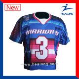 Lacrosse superiore Jersey di sublimazione degli abiti sportivi di marca di Healong e Shorts