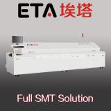 De grote Oven van de Terugvloeiing SMT met het Verwarmen 8 Streek (E8)