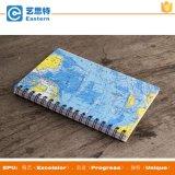 Cahier de papier de couverture de carte du monde de la taille A4