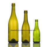 Bottiglia di vino di vetro con il tipo con tappo a vite della Borgogna