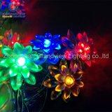 Multicolor Lotus 10m 100 LED feux de chaîne de fée pour mariage Xmas Party de Noël avec la CE RoHS TUV SGS
