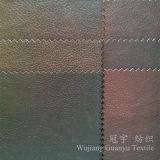 Poliestere di cuoio 100% del tessuto della pelle scamosciata bronzato per le mobilie domestiche della tessile