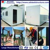 Maisons préfabriquées pliables de conteneur de mer de la structure métallique