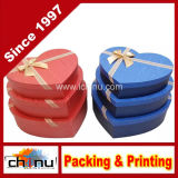 서류상 Gift Packaging Box, Round Box, OEM Custom와 가진 그리고 Stock에서 Heart Shaped Box