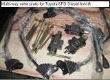 Válvula de controle hidráulica do Forklift de Toyota para aumentar o núcleo de válvula, haste de válvula