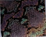 Snake Pattern (H650110)를 가진 돼지 Grain Coated Leather