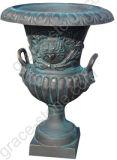 Urna de ferro fundido para decoração de jardim