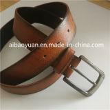 Mens Clsssicial ceinture en cuir véritable brun antique