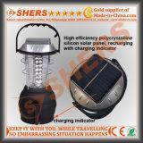 36 LED Solar Light de campaña, con Dynamo de arranque (SH-1990b)