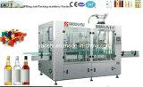 Glasflaschenabfüllmaschine, Alkohol-Glasabfüllenmaschinerie, Spiritus-Glasflaschen-Plomben-Maschinerie