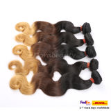 Menselijke Haar van de Inslagen van de Golf van het Lichaam van de hoogste Kwaliteit het Braziliaanse Blonde Dubbele